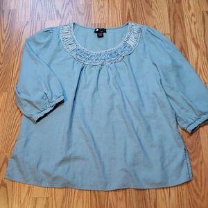 Plus Size 2X Beautiful Blue chambray Carole Little